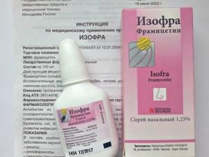 Изофра - спрей в нос, инструкция по применению