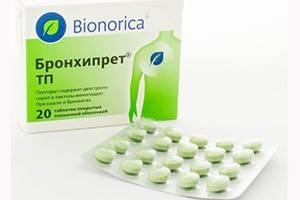 Таблетки Бронхипрет ТП: инструкция по применению, отзывы