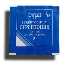 Стрептоцид порошок - применение для горла, отзывы