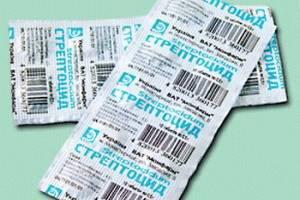 Таблетки Стрептоцид при боли в горле: инструкция по применению, аналоги, отзывы