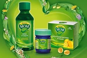 Инструкция по применению Доктор МОМ: состав, действующее вещество от кашля, производитель, противопоказания, с какого возраста назначается, отзывы и аналоги